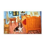 Van Gogh's Room & Basset 20x12 Wall Decal