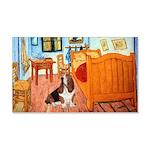 Van Gogh's Room & Basset 20x12 Wall Decal