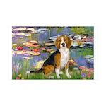 Lilies (#2) - Beagle #7 35x21 Wall Decal