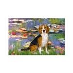 Lilies (#2) - Beagle #7 35x21 Wall Decal