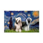 Starry / 2 Bearded Collies 35x21 Wall Decal