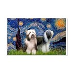 Starry / 2 Bearded Collies 20x12 Wall Decal