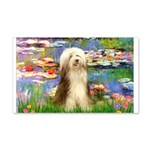 Lilies / Bearded Collie 20x12 Wall Decal