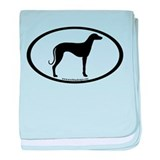 Sloughi Dog Oval baby blanket