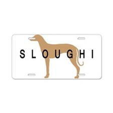 sloughi dog breed Aluminum License Plate