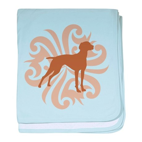 Tan & Brown Vizsla baby blanket
