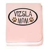Vizsla Mom Oval baby blanket