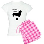 welsh corgi heart Women's Light Pajamas