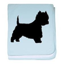 West Highland Terrier baby blanket