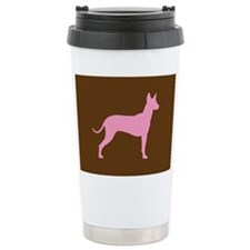 Xolo Dog Pink Profile Ceramic Travel Mug