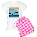 Dogs Chasing Ball Women's Light Pajamas