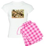 Dog Group From Antique Art Women's Light Pajamas