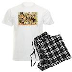 Dog Group From Antique Art Men's Light Pajamas