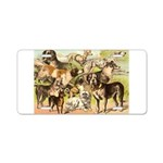 Dog Group From Antique Art Aluminum License Plate