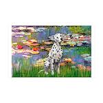Lilies/ Dalmatian #1 35x21 Wall Decal