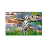 Lilies/ Dalmatian #1 35x21 Wall Decal