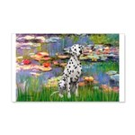 Lilies/ Dalmatian #1 20x12 Wall Decal