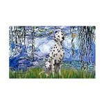 Lilies / Dalmatian #1 35x21 Wall Decal