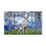 Lilies / Dalmatian #1 20x12 Wall Decal