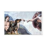 Creation / 2 Dobies 20x12 Wall Decal