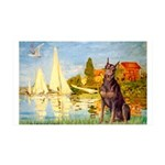 Regatta / Red Doberman 35x21 Wall Decal