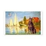 Regatta / Red Doberman 20x12 Wall Decal