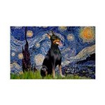 Starry Night Doberman 35x21 Wall Decal