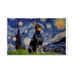 Starry Night Doberman 20x12 Wall Decal