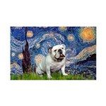 Starry Night English Bulldog 35x21 Wall Decal