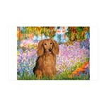 Garden -Dachshund (LH-Sable) 35x21 Wall Decal