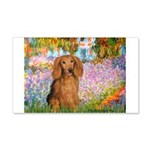 Garden -Dachshund (LH-Sable) 20x12 Wall Decal