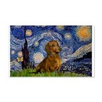 Starry / Dachshund 20x12 Wall Decal