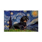 Starry Night Dachshund 35x21 Wall Decal