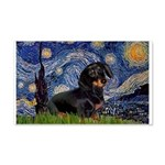Starry Night Dachshund 20x12 Wall Decal