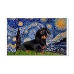 Starry Night Dachshund 20x12 Wall Decal