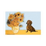 Sunflowres / Dachshund 35x21 Wall Decal