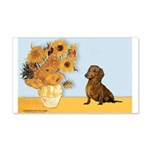 Sunflowres / Dachshund 20x12 Wall Decal