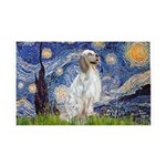 English Setter / Starry Night 35x21 Wall Decal