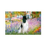 Monet's garden & Springer 35x21 Wall Decal