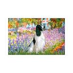 Monet's garden & Springer 35x21 Wall Decal