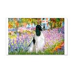 Monet's garden & Springer 20x12 Wall Decal