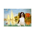 Sailboats / Eng Spring 35x21 Wall Decal