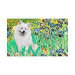 Irises / Eskimo Spitz #1 35x21 Wall Decal