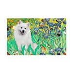 Irises / Eskimo Spitz #1 35x21 Wall Decal