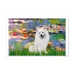 Lilies / Eskimo Spitz #1 20x12 Wall Decal