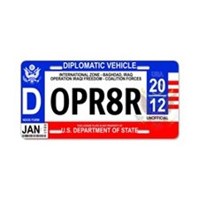 Iraq Diplomatic Vanity License Plate
