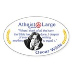 Oscar Wilde Quote Bible Harms Sticker (Oval)