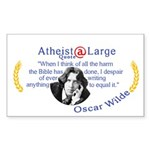 Oscar Wilde Quote Bible harms Sticker (Rectangle)