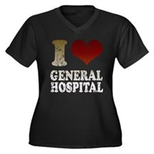I heart General Hospital Women's Plus Size V-Neck