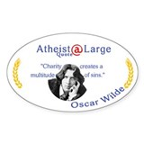 Oscar wilde Quote Charity Sins Decal